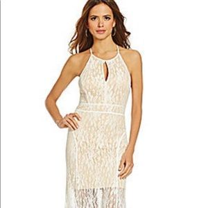 Gianni Bini NWT Floral Lace Maxi Dress White Small